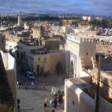 La puerta azul a la ciudad de Fez