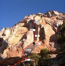 Ruta de escalada en la cercana El preu d'un Somni
