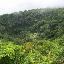 Interior del Volcán Mombacho