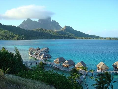 Bungalós de Bora Bora. Foto de tensaibuta - Flickr