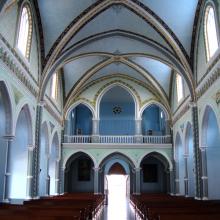 Interior de la capilla de María Auxiliadora