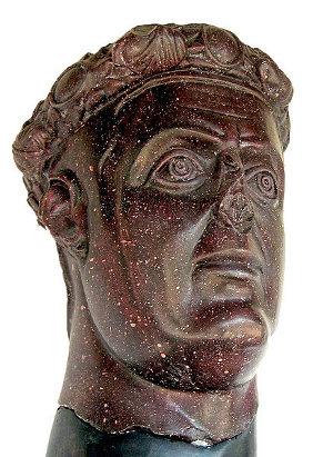 Busto de Balerio en pórfido