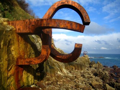 Peine del viento, en Donostia. Foto de Flickr.