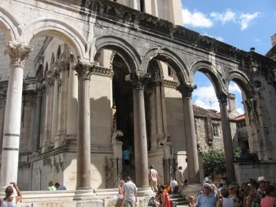 Peristilo del palacio de Diocleciano