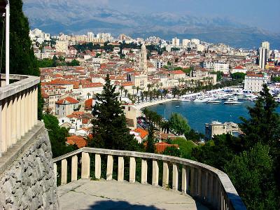 Vista general de Split desde la colina de Marja. Foto tomada de Wikipedia.