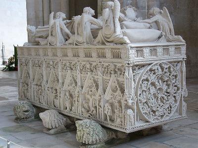 Tumba del rey Pedro I en Alcobaça.