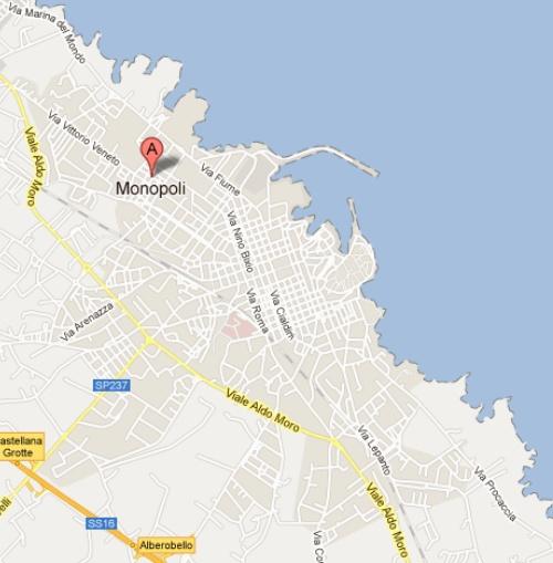 Una localidad italiana con nombre de juego de mesa: Monopoli 4