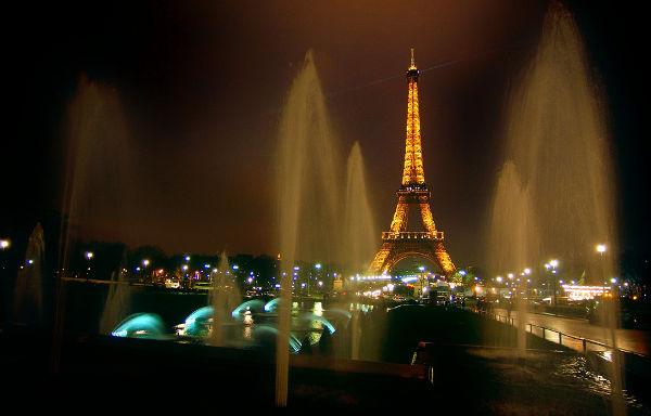 La Torre Eiffel desde los jardines de El Trocadero