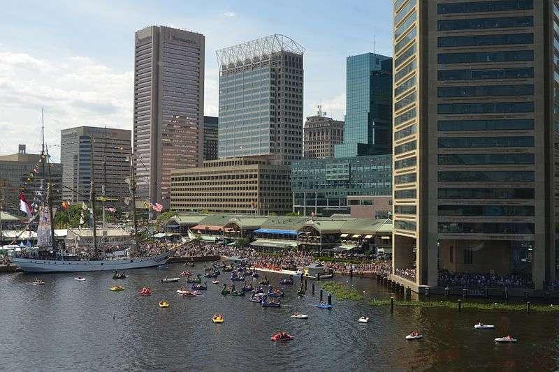 Inner Harbor en Baltimore desde el Acuario de Baltimore