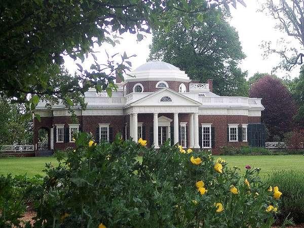 Mansión Monticello desde los jardines