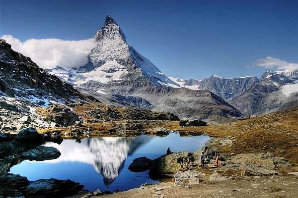 El pico del monte Cervino, Suiza