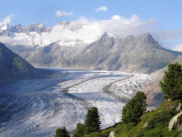El glaciar Aletsch, en Suiza