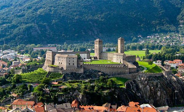 Castillos de Bellinzona, en Suiza