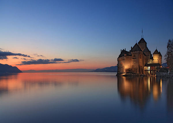 Castillo de Chillon, en Suiza