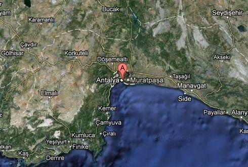 Google maps, ubicación de Antalya, Turquía