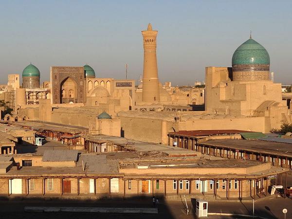 Skyline de Bujará, Uzbekistán