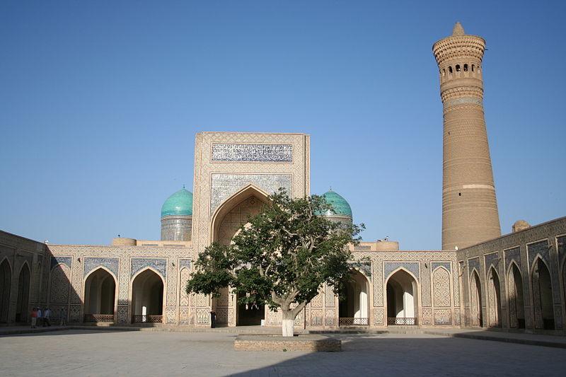 mezquita y minarete de Po-i-Kalyan, Bujará, Uzbekistán