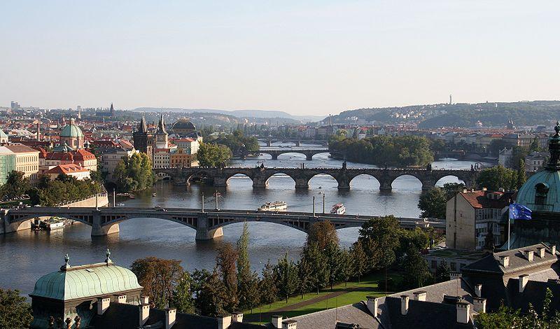 Río Moldava, Praga, República Checa