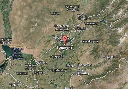 Ubicación de Taskent (Google maps). Clic para ir al mapa.