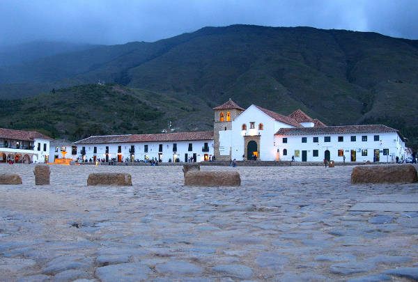 Plaza Mayor de Villa de Leyva, Colombia