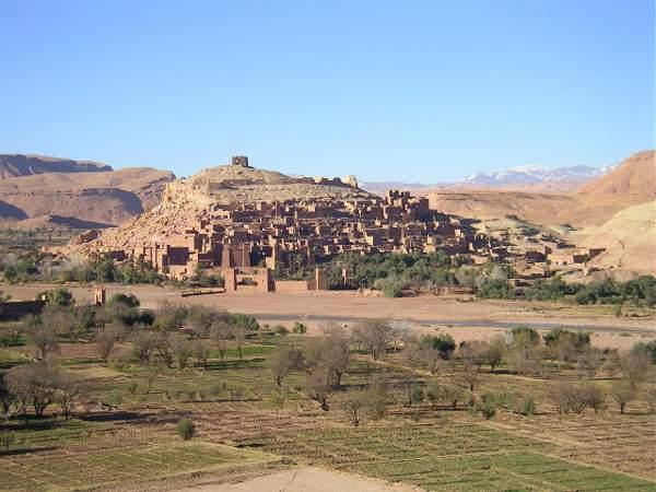Vista general de Ait Ben Hadu, Ouarzazate, Marruecos