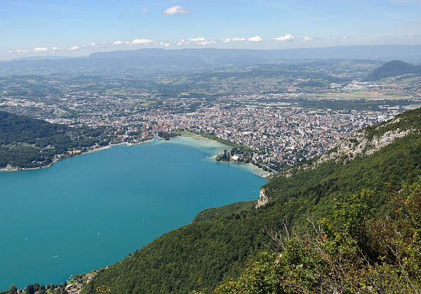 Annecy desde Veyrier, Annecy, Francia