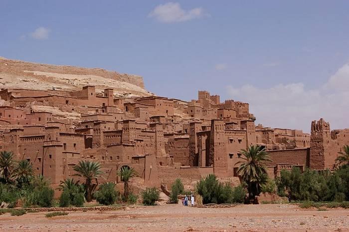 Vista cerca de Ait Ben Haddou, Alto Atlas, Marruecos