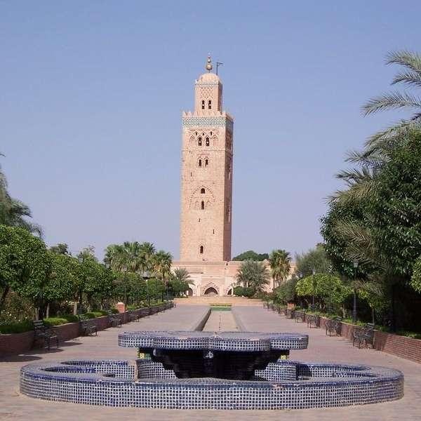 Mezquita de Koutubia, Marrakech, Marruecos. Foto: Daniel Csörföly, Wikimedia Commons (CC BY-SA 3.0)