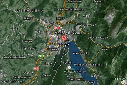 Ubicación Annecy, Francia, Google maps