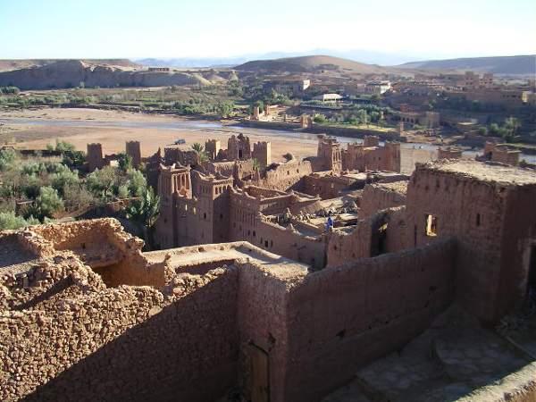 Vistas desde Ait Ben Hadu, Marruecos