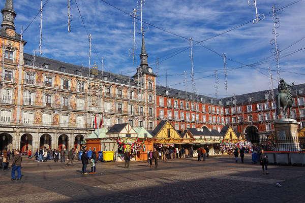 Mercado de Navidad de Madrid, Plaza Mayor, España