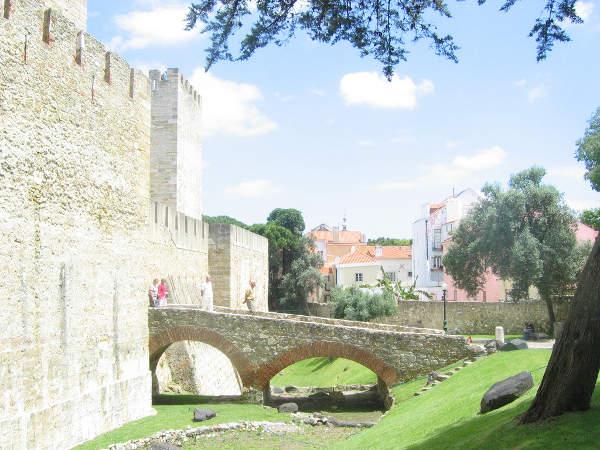 Castillo de San Jorge, en Lisboa, Portugal