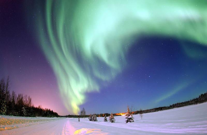 Aurora boreal captada desde Alaska