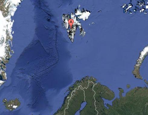 Ubicación Longyearbyen, Svalbard