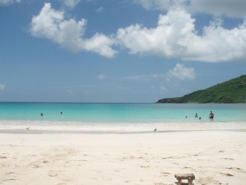 Playa Flamenco, en Culebra, Puerto Rico