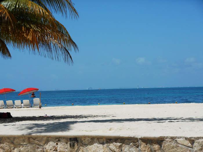 Playa Norte, en Isla Mujeres, México
