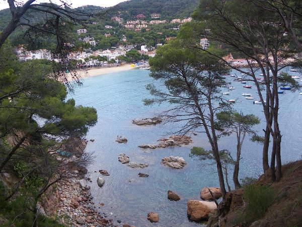 Playa de Llafranch, en Gerona