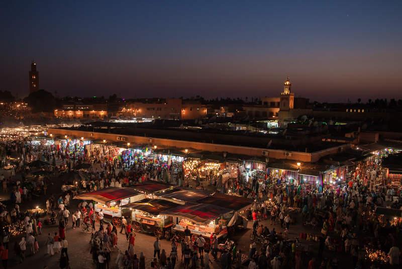 Plaza de Jemaa El Fna, Marrakech, Marruecos