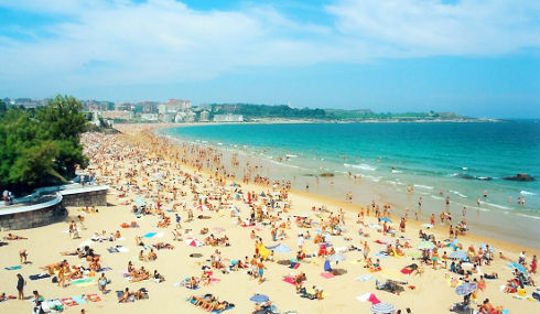 Playa del Sardinero, Santander, España