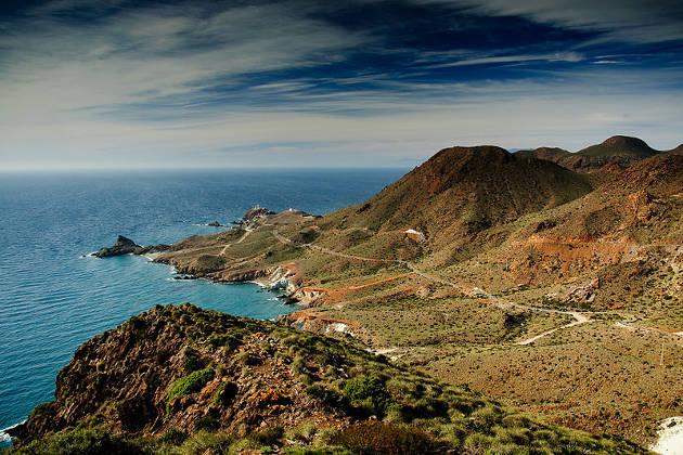 Cabo de Gata, cerca del faro de Cabo de Gata, maravilla natural de España