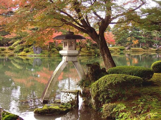 Jardín de Kenrokuen, en Kanazawa