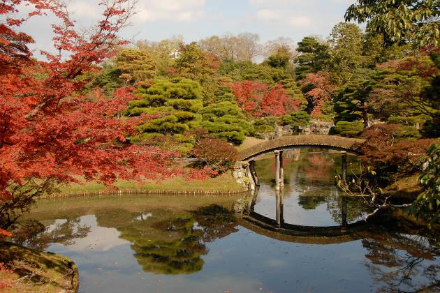 Jardines de la Villa Imperial de Katsura, en Kyoto, Japón