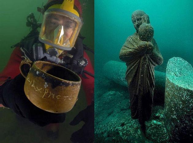 Ruinas submarinas de Alejandría, Egipto