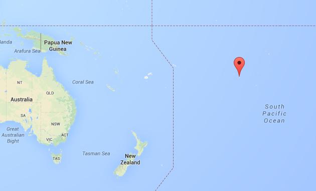 Tahití en el océano Pacífico