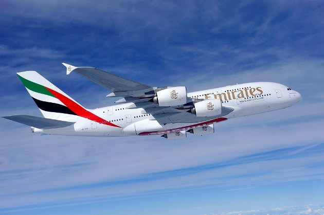 Emirates Airlines A380 en pleno vuelo