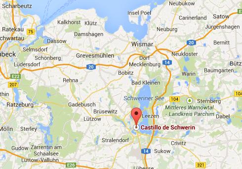 Ubicación del Palacio de Schwerin